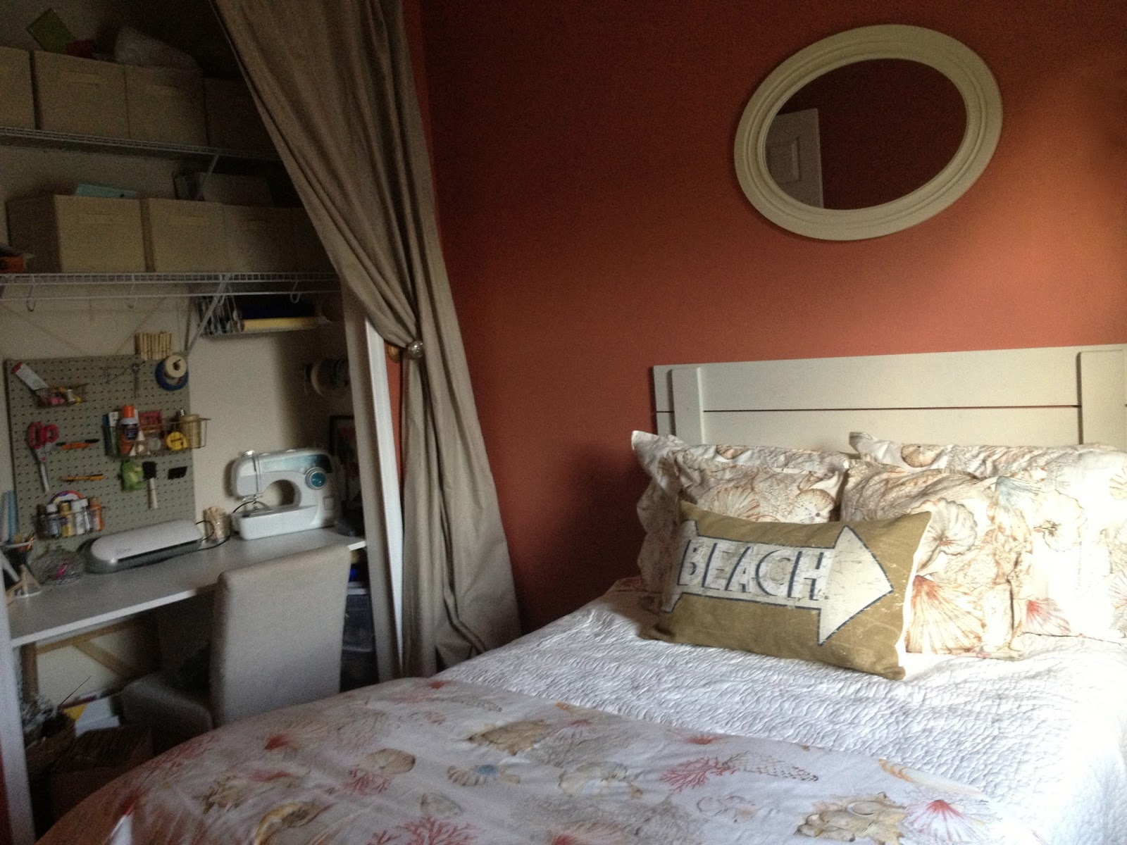 Red Apple Bedroom Furniture Red Beach Themed Guest Bedroom Overthrow Martha
