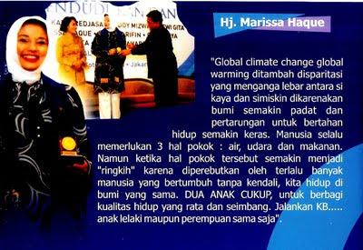 Ledakan Penduduk dan Lingkungan Hidup Indonesia (dlm Dr.Hj. Marissa Haque Fawzi, SH, MHum, MBA, MH)