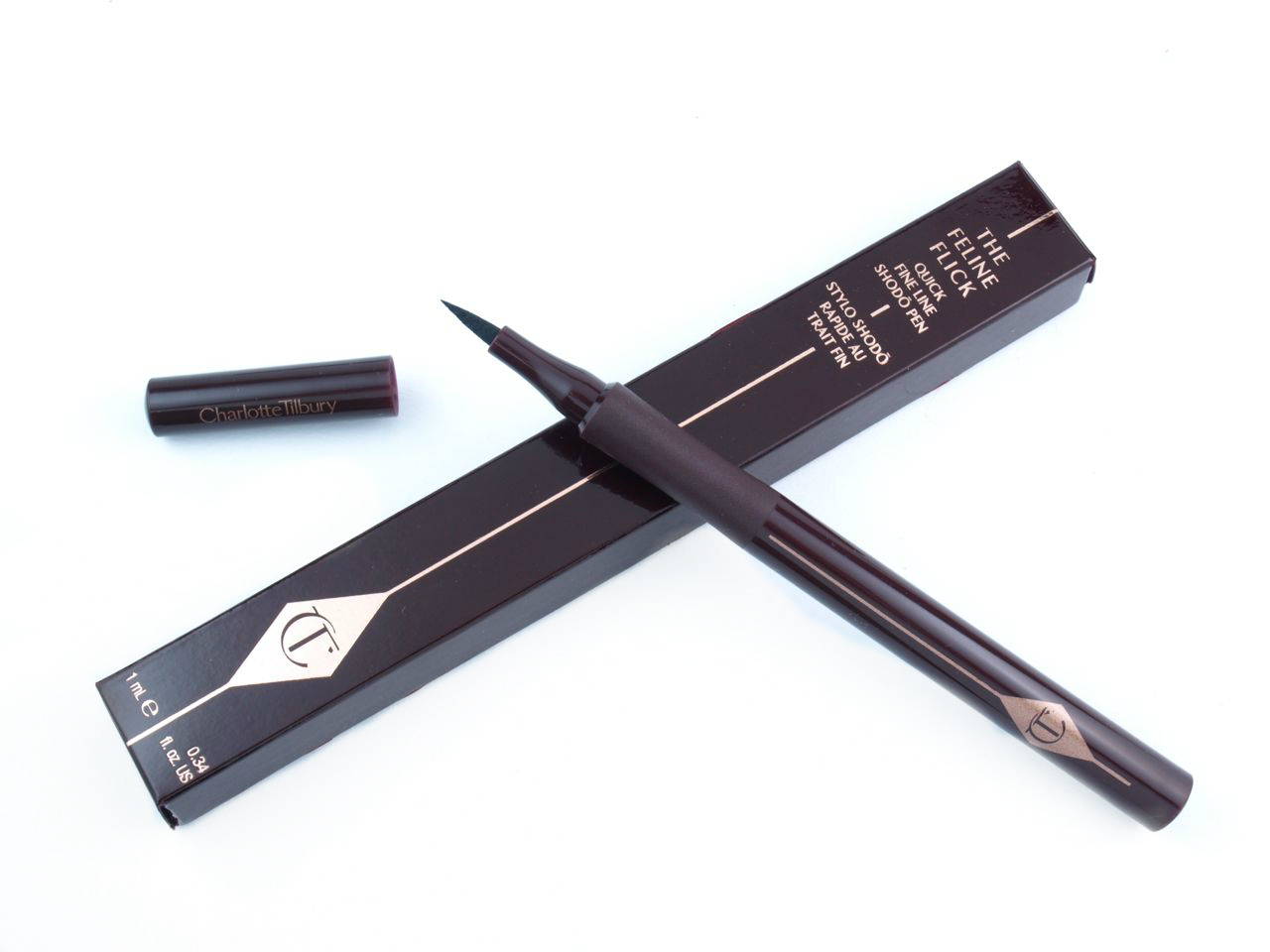 Charlotte Tilbury The Feline Flick Liquid Eyeliner: Review and Swatches