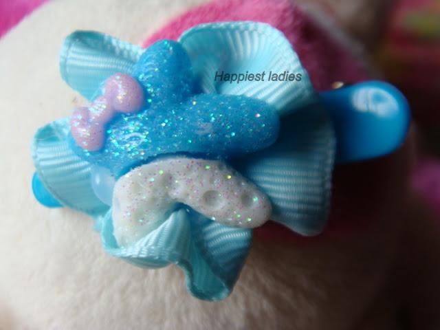 Blue Bow hair Clip+hair bows