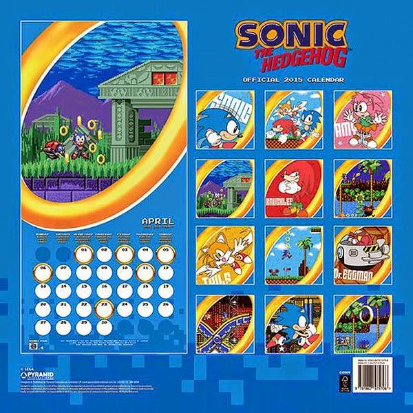 Calendario Sonic 2015