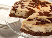 Chocolate Swirled Chocolate Chip Cheesecake