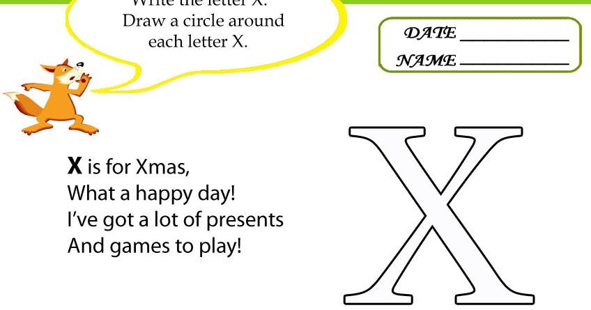 Kids Under 7: Letter X Worksheets