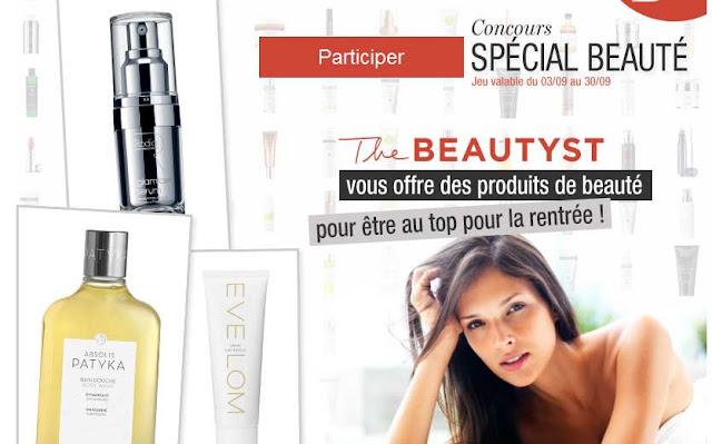 Nombreux produits de beauté Beautyst à gagner