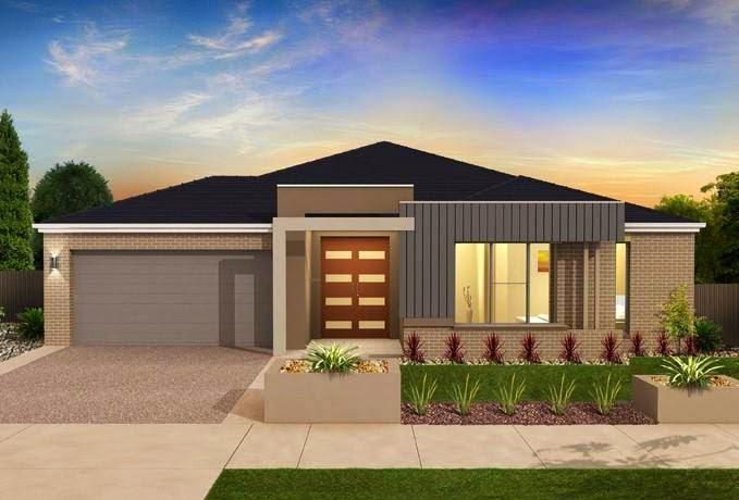 Construindo minha casa clean 30 fachadas de casas for Ver frentes de casas modernas
