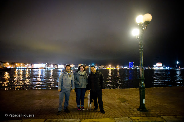 Cenk, Anna and Vinicius at Haydarpaşa Gari on the Asian side