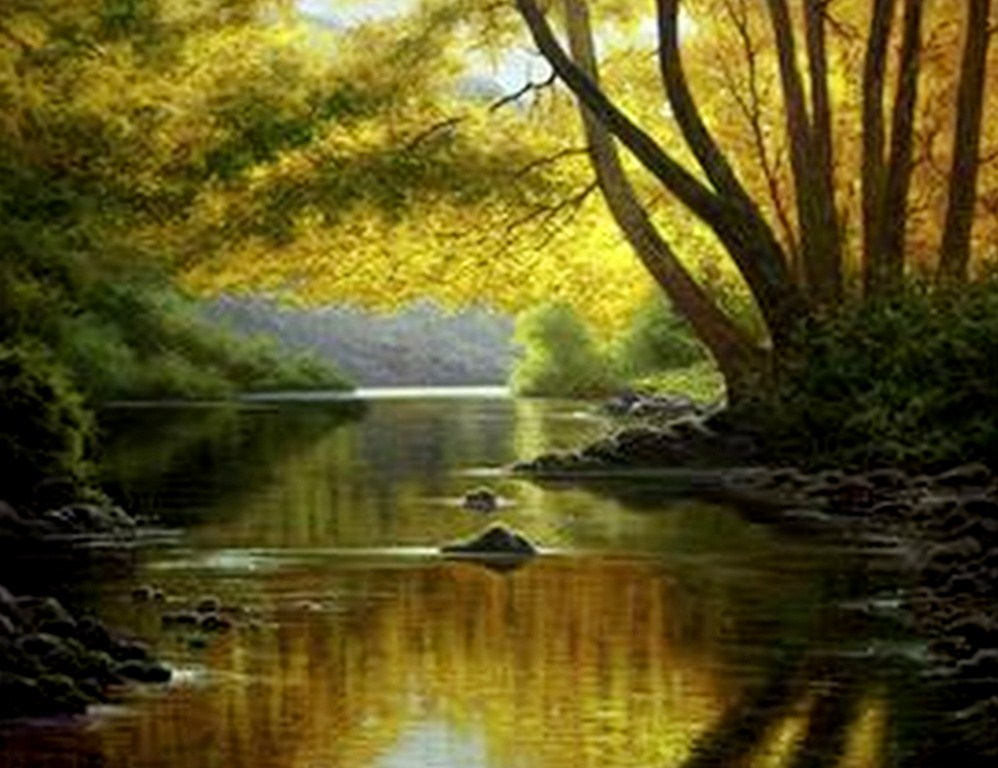 paisajes hermosos al óleo paisajes hermosos pintados en óleo sobre