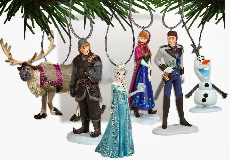Disney tree ornaments - Disney S Frozen Holiday Ornament Set 6 Pvc Figure Ornaments Included