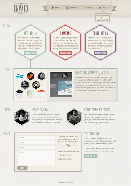 One-page site in retro style