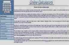 Online Calculators: calculadoras y convertidores de diferentes unidades de medida online