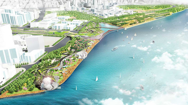 Pudong waterfront by swa group morphosis for Swa landscape architecture