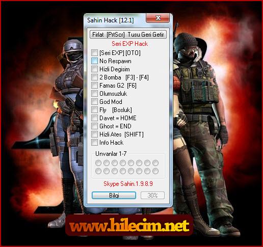 PointBlank TR Şahin Hack v12.1 İndir