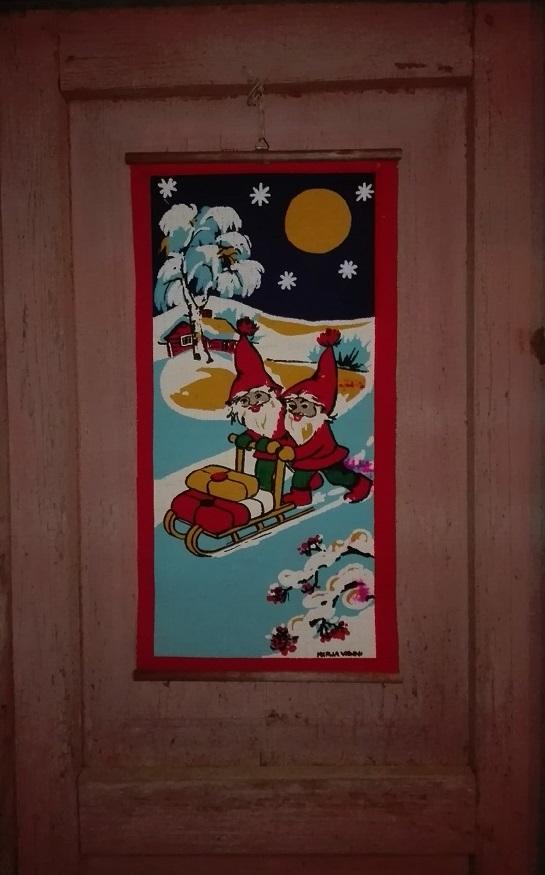 Vanha joulutaulu piristi flunssaista mieltä.