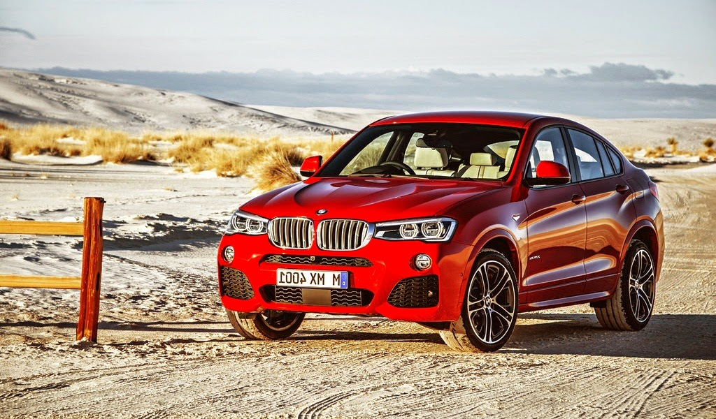 2015 BMW X4 M Sport Package Melbourne Red Metallic Front Wallpaper