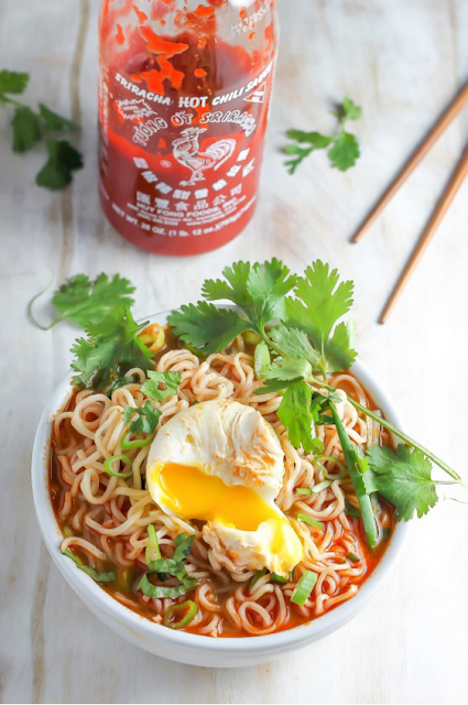 Spicy Sriracha Ramen Bowl