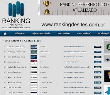 Aracati em Foco foi 6º colocado no Ranking dos blogs mais acessados do Ceará no mês de fevereiro