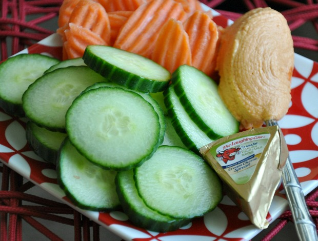 Veggie and Laughing Cow Snack Plate