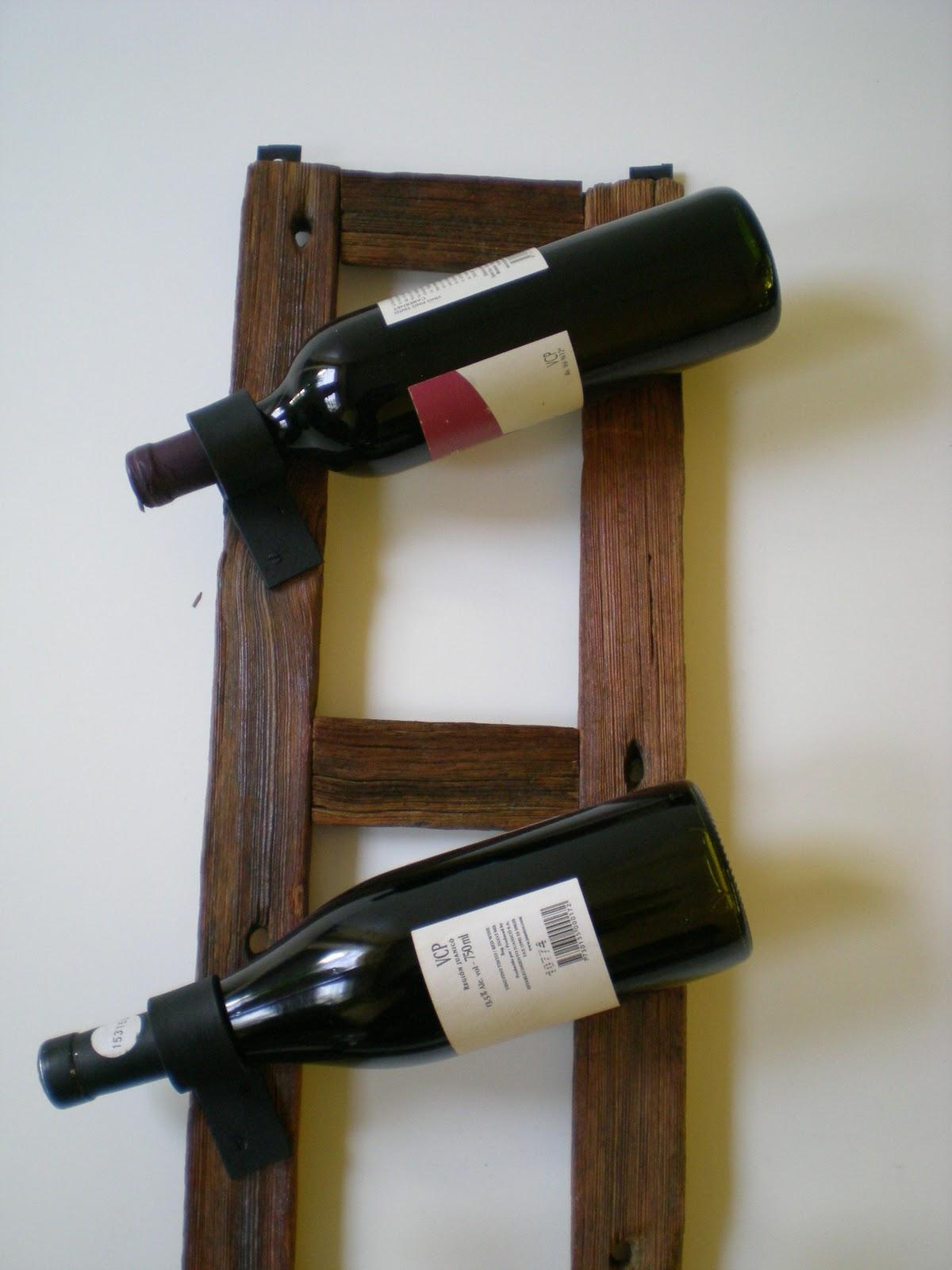 El fog n artesan as en madera r stica y hierro uruguay - Botelleros de madera rusticos ...