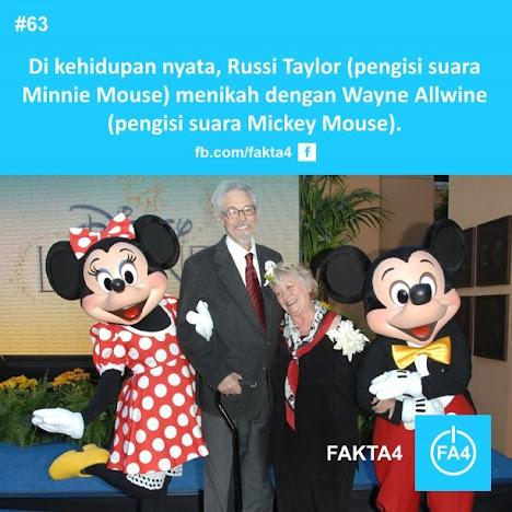 Pengisi Suara Mickey dan Minnie Menikah