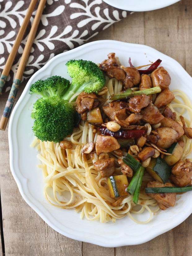 Kung Pao Chicken recipe with Noodles by SeasonWithSpice.com