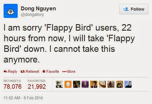 Flappy Bird Shutdown, Dong Nguyen