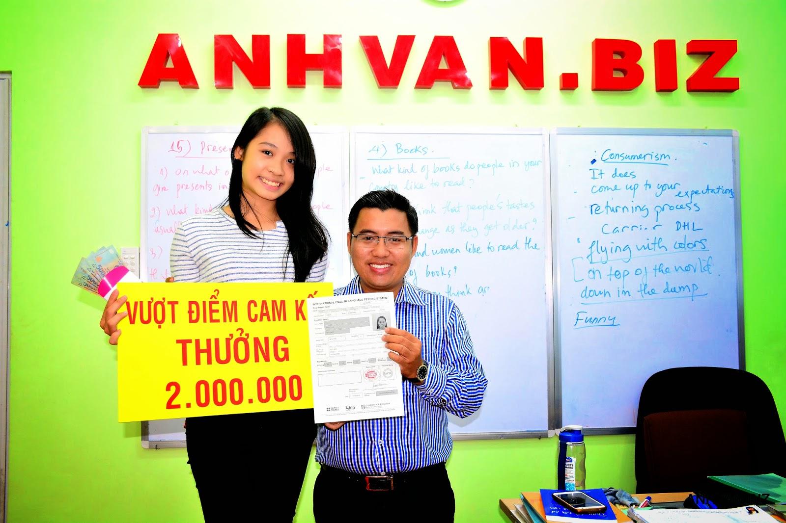 Đăng kí IELTS 5.0 , vượt 0.5 nhận thưởng 2,000,000