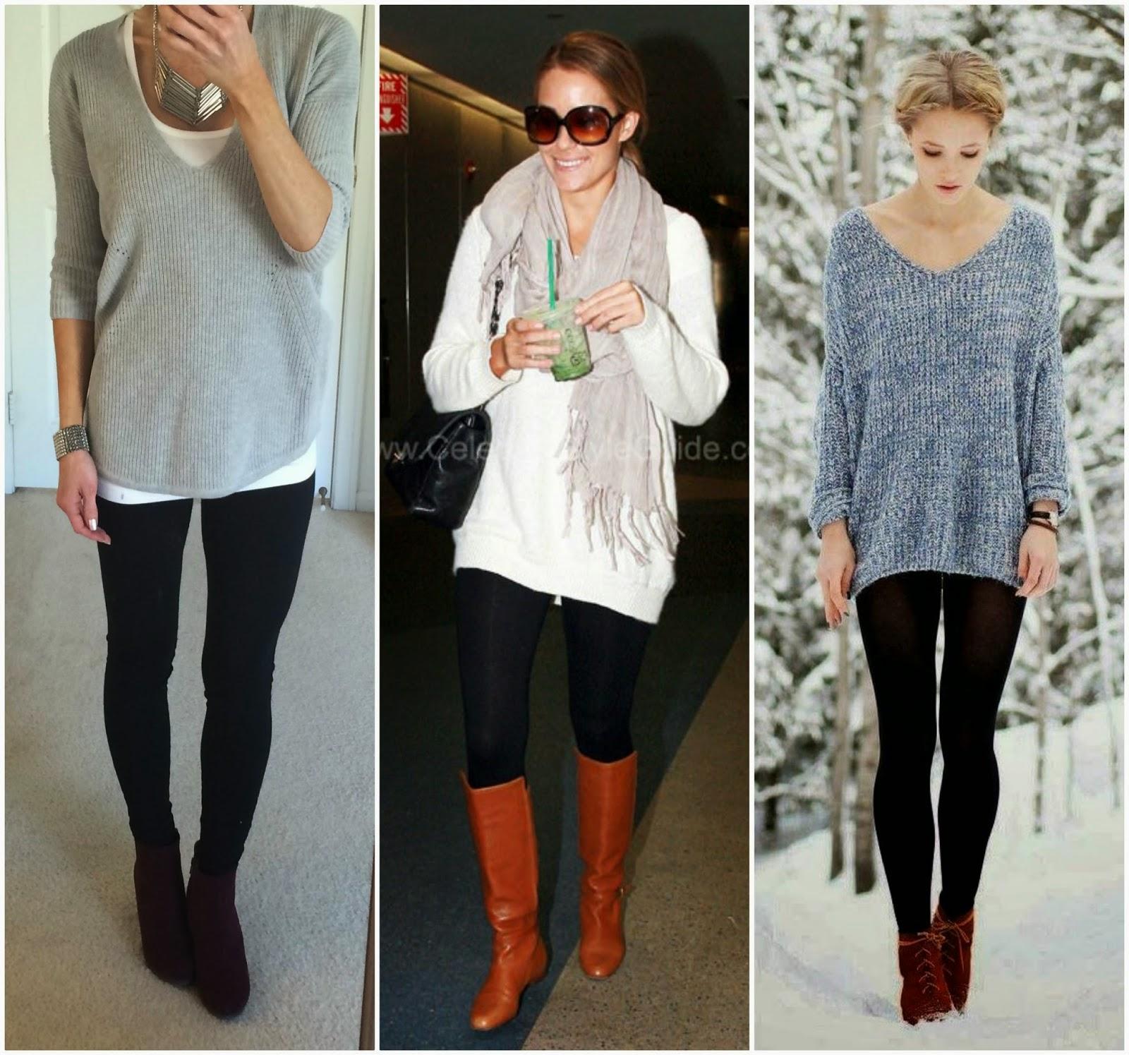 Long Sweater Dress with Leggings