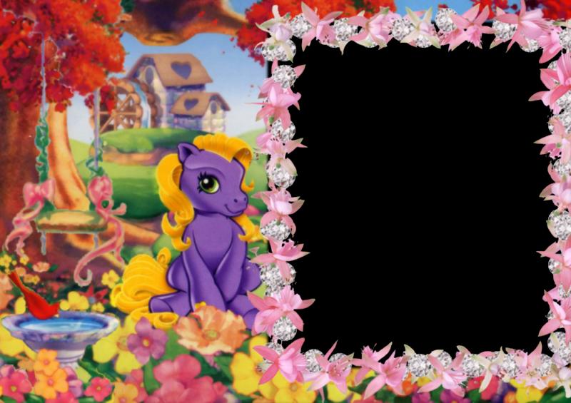 8 Fabulosos Marcos para Fotos en Png de My Little Pony. ~ Marcos ...