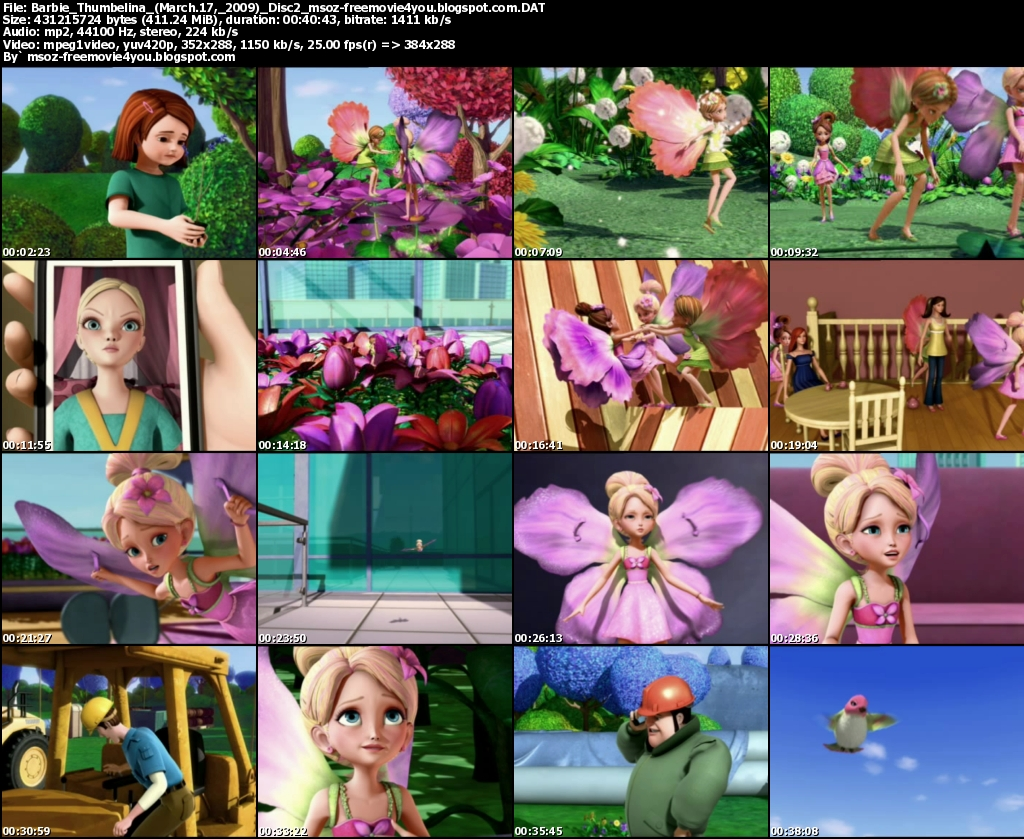 Thumbelina movie part 1