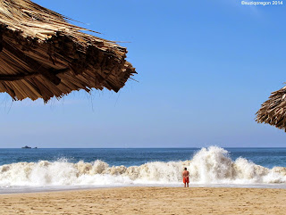 Watching the surf. Ixtapa, Mexico