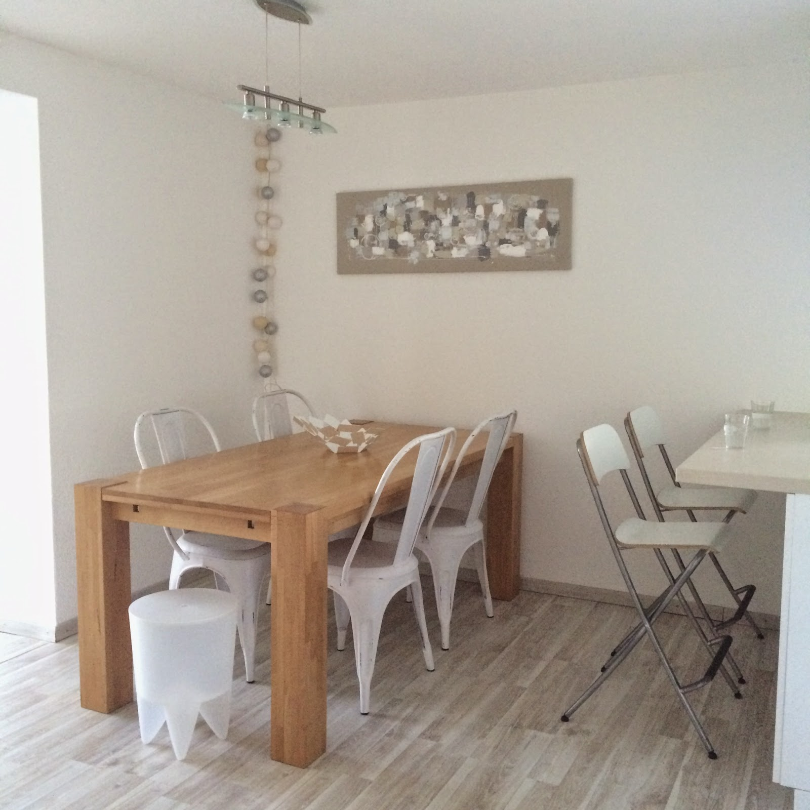 Deco scandinave salle a manger - Chaises blanches salle a manger ...