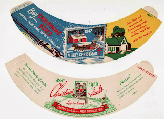 Advertising collars, 1940's, milk bottle distributing