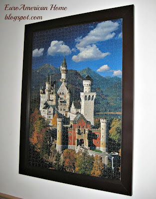 how to frame a puzzle, puzzle of Neuschwanstein Castle