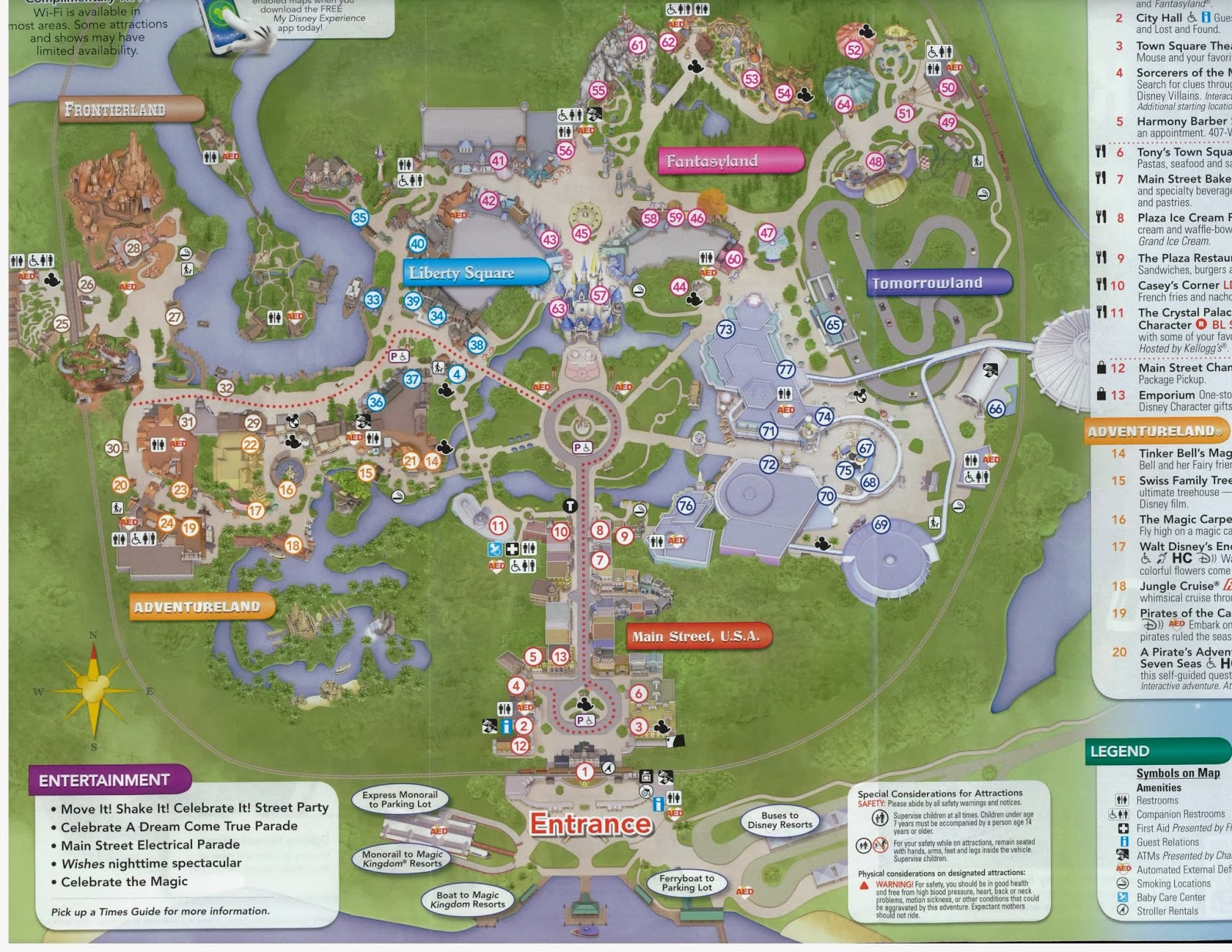 Magic Kingdom Map 2013 Printable New version of the map: