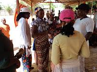 Apresentação sobre como foi a chegada da Missionária Neangela e Ruith
