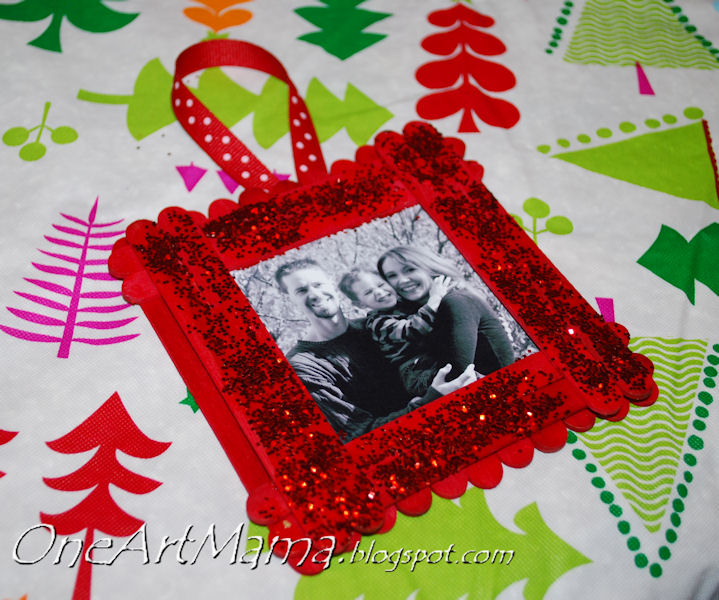 Beautiful Christmas Picture Frame Craft Ideas Part - 13: One Artsy Mama