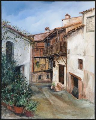 Primer premio VII Concurso Pintura Rápida. Otoñada Valle del Jerte.