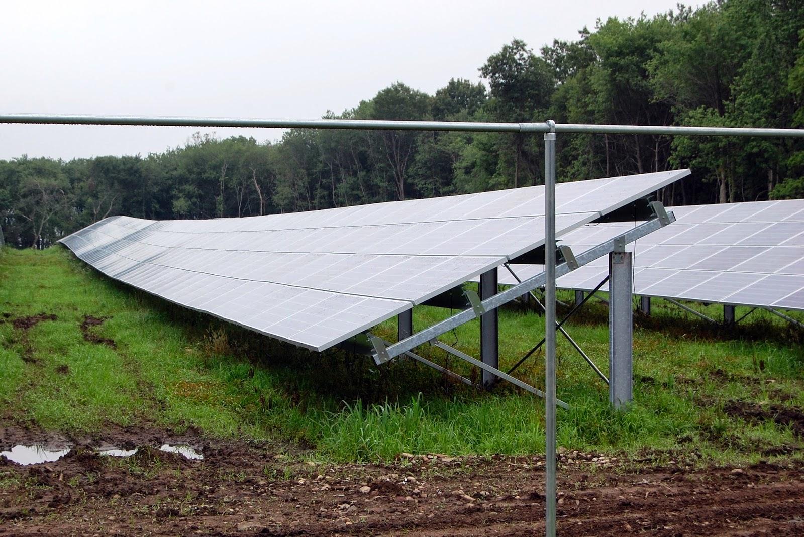 the solar farm at Mt Saint Mary's