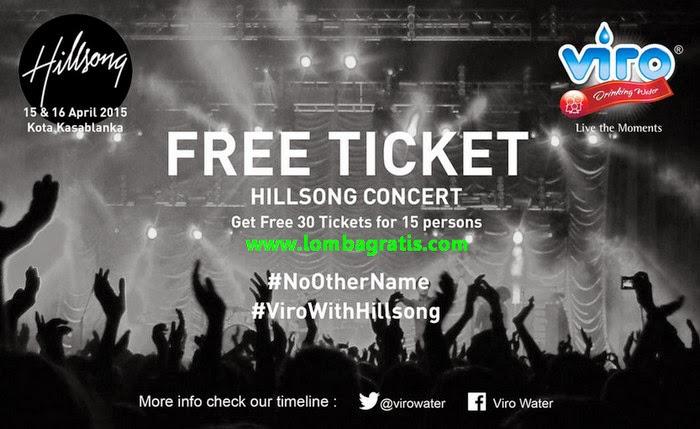 Kuis Viro Berhadiah 30 Tiket Hillsong Concert GRATIS