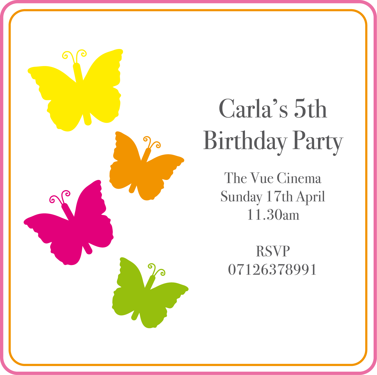 Sophie Ellis Designs: Children\'s Birthday invitations
