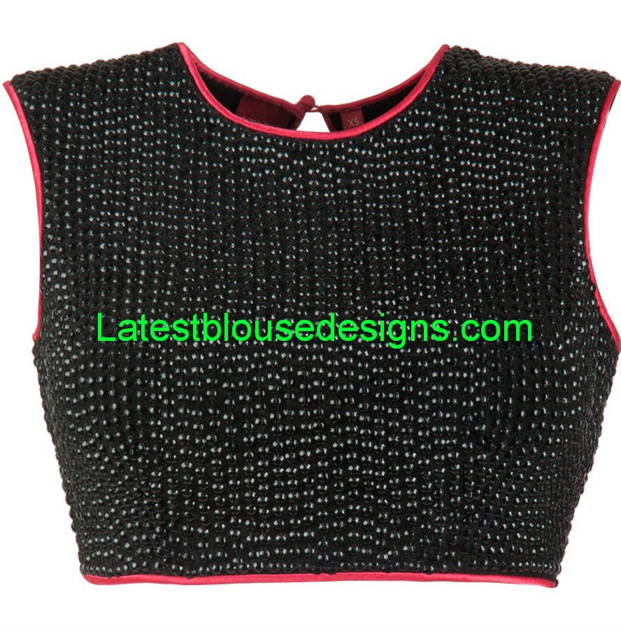 black cocktail saree blouse