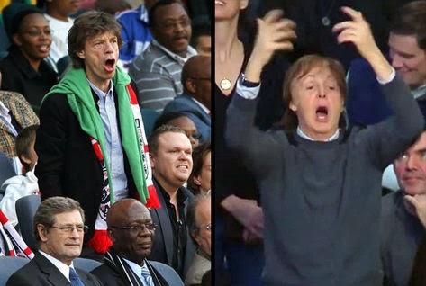 Paul McCartney e Mick Jagger vão torcer pela Inglaterra em Manaus