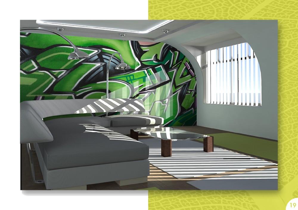 Decoraci n la versatilidad de un sof blanco novedades for Papel pintado personalizado