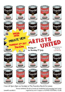 poster for the Artist United show