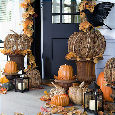 diy twig pumpkin decorations