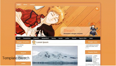 Download template blog bleach