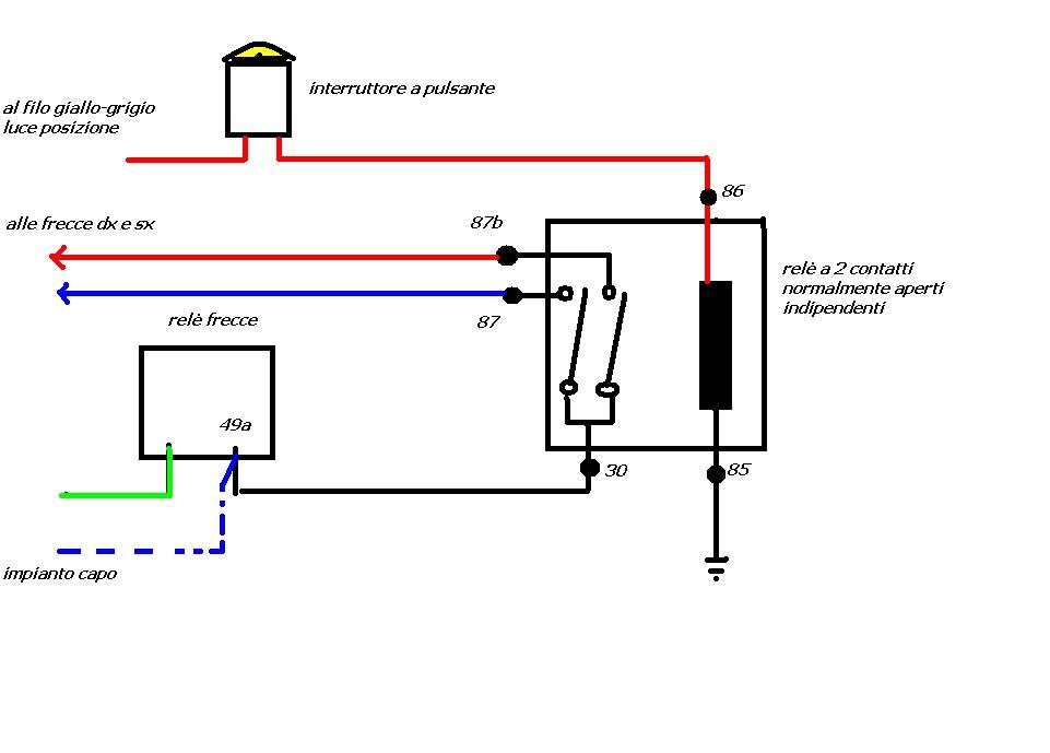 Schema Elettrico Per Interruttore Deviatore : Schema elettrico per doppio interruttore