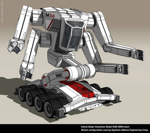 Mass Effect: ODIN-mech por Marrekie