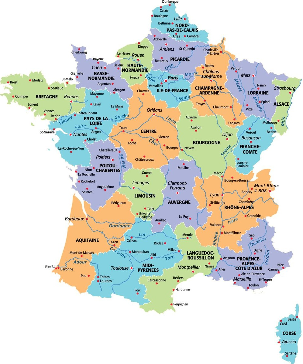 Carte de France Departement: France Departement Carte Image