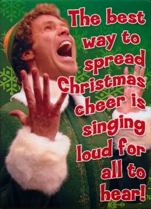 The Best Way Spread Christmas Cheer Singing Loud For All Hear